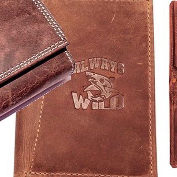 Kožené peněženky Wild jsou proslulé svou kvalitou a originálním vzhledem, tyto kvalitní kožené peněženky jsou vyráběné z té nejkvalitnější hovězí kůže. Nové modely roku 2013 Vás určitě zaujmou !