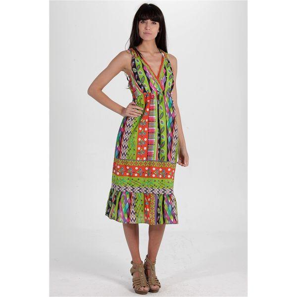 Dámské šaty Calao barevné véčkový výstřih