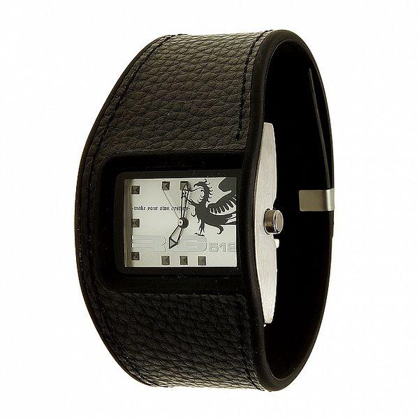 Unisexové čierno-biele analogové hodinky RG512
