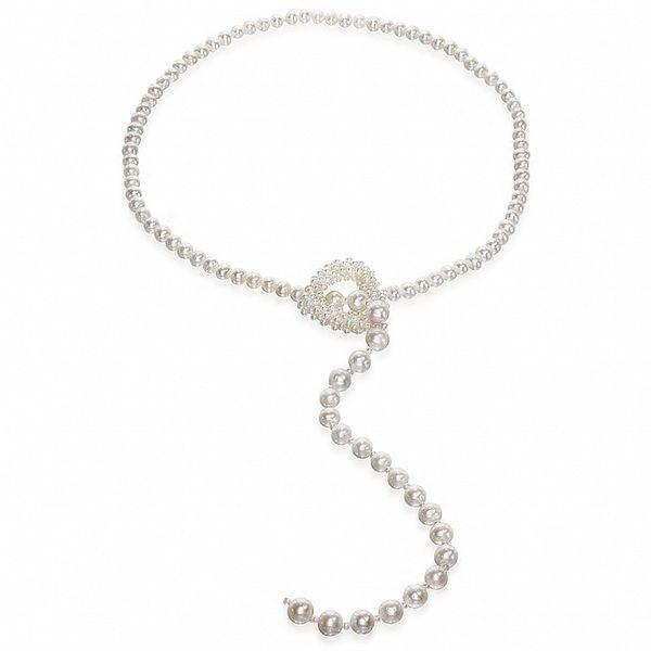 Bílý perlový náhrdelník Orchira s perlovým srdcem