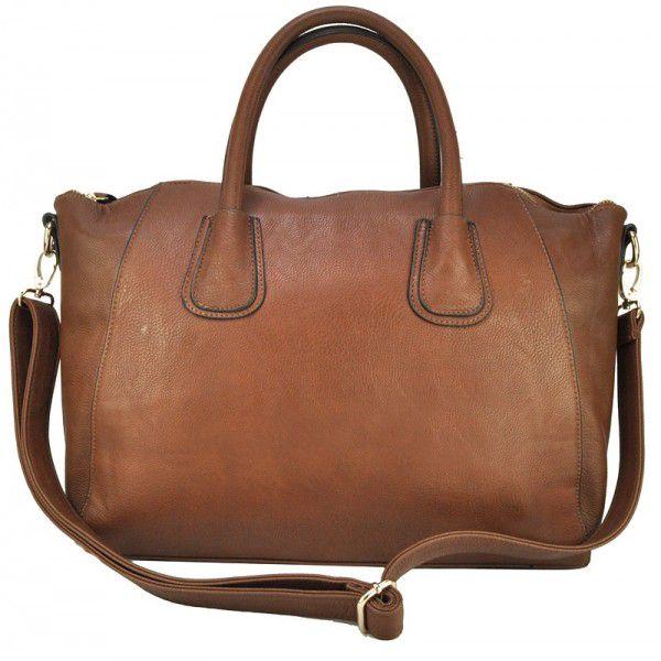 Fashion módní kabelka 1338 hnědá z umělé kůže.