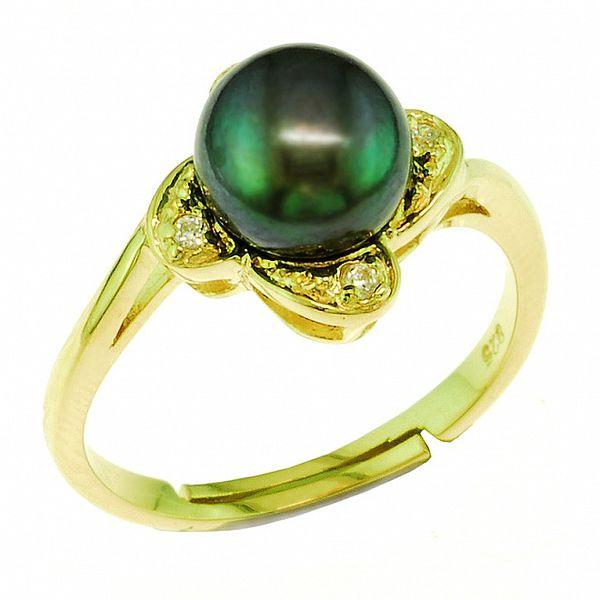 Zelený perlový prsten Orchira
