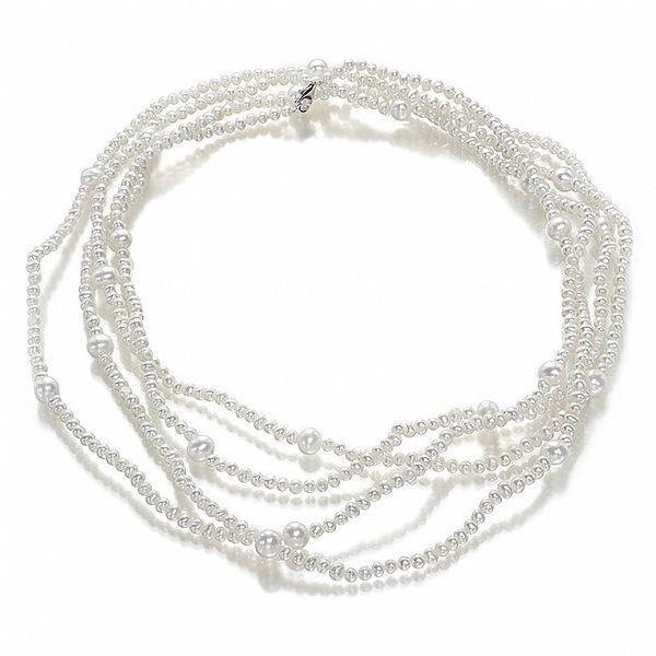 Krémový perlový náhrdelník Orchira