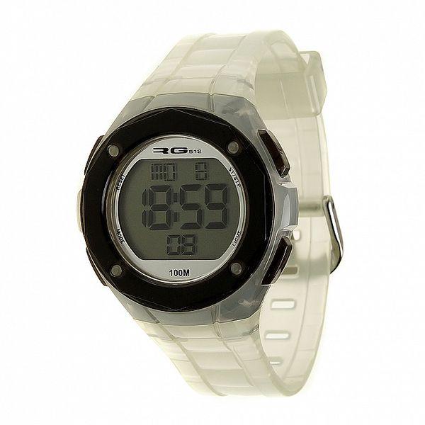 Unisexové bílé transparentní digitální hodinky RG512