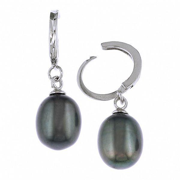 Náušnice Orchira se striebornými perlami