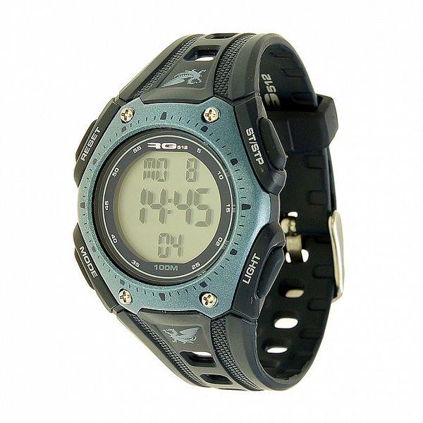 Unisexové šedo-čierne digitálne hodinky RG512