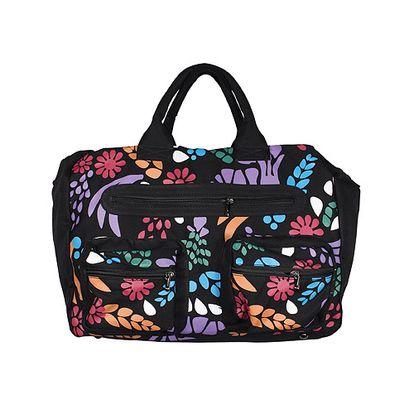 Dámska čierna taška Smash s farebnou potlačou