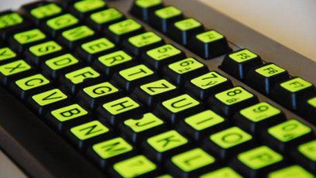 Fluorescenčné nálepky na klávesnicu za 3,90 €!