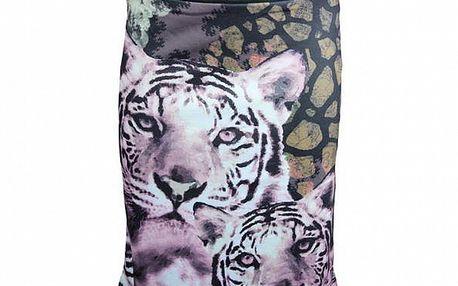 Dámská fialovo-černá sukně Smash s tygry