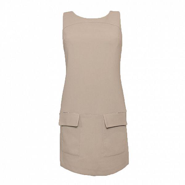 Dámske béžové šaty s vreckami Virginia Hill