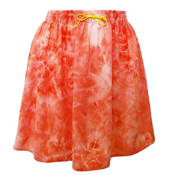 Dámská korálová sukně v pase na gumu Virginia Hill