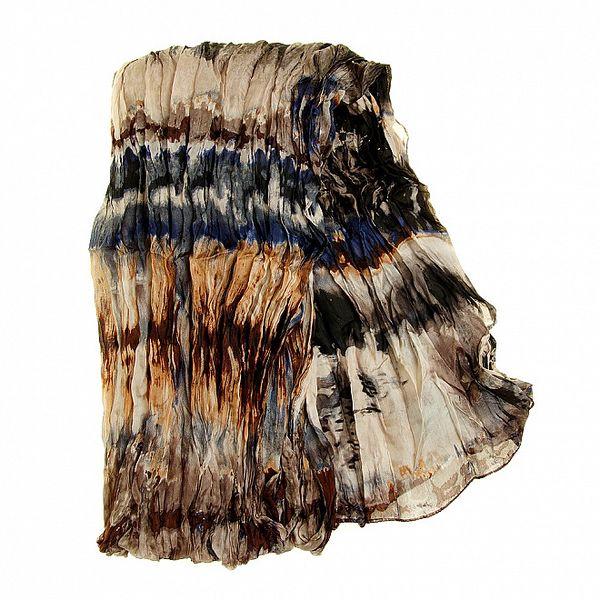 Dámsky farebný hodvábny šál Fraas