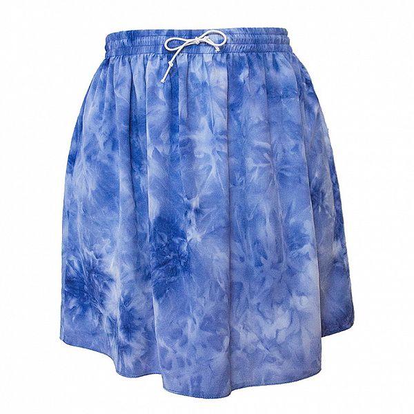 Dámská modrá sukně v pase na gumu Virginia Hill