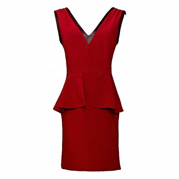 Dámské červené šaty s lemem Virginia Hill