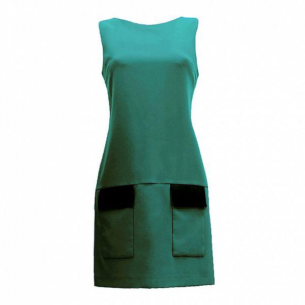 Dámske zelené šaty s vreckami Virginia Hill