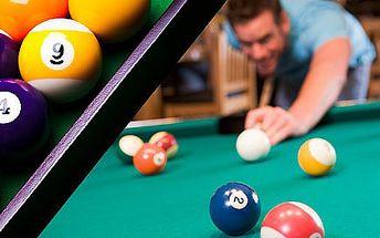 2 hodiny kulečníku v nově otevřeném Drink & Billiard baru v centru Hradce Králové