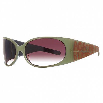 Dámské zeleno-oranžové sluneční brýle Agatha Ruiz de la Prada