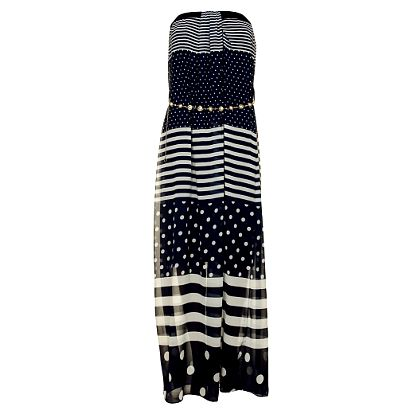 Dámske modré dlhé šaty Comptoir des Parisiennes