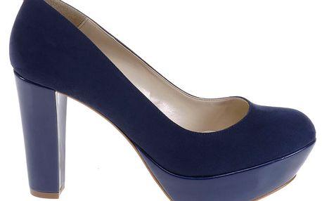 Dámské temně modré lodičky Eva Lopez