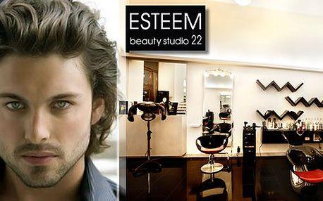 Kreativní pánský střih + styling za 160 Kč! Změňte svou image ve stylovém Salonu ESTEEM v centru Prahy.