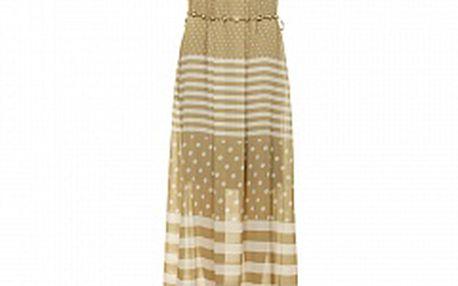 Dámske béžové dlhé šaty Comptoir des Parisiennes