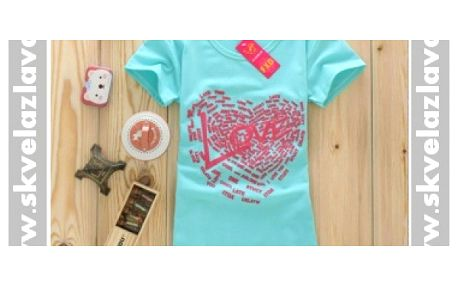 Dámske tričko Love za 6,80 € vrátane poštovného!