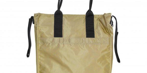 Elegantní a praktická taška značky Brio ve zlaté barvě - tašku je možné přidělat na kočárek