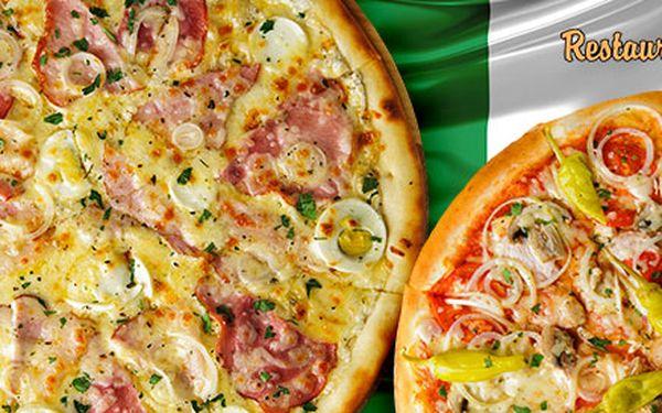 Dvě pizzy dle výběru