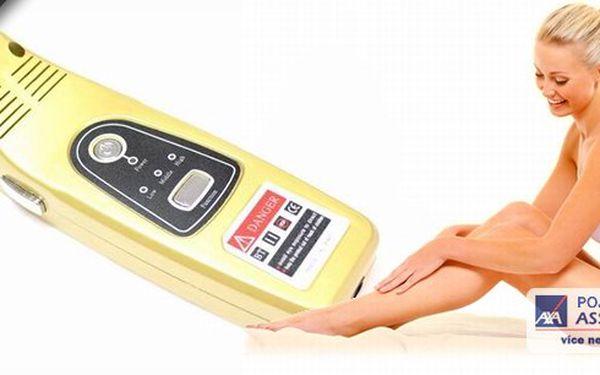 Využijte této skvělé nabídky! Domácí zlatá laserová epilace E-LIGHT 3D IPL se zárukou! Konečně bez chloupků, v pohodlí domova a ještě za jednorázovou platbu, která se nenavýší dalšími návštěvami v salonu!