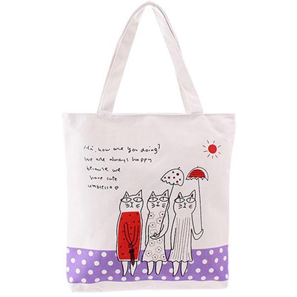 Plátěná taška Three Cats