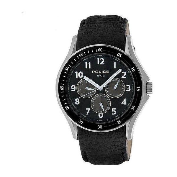 Pánské hodinky Police černé kulatý ciferník