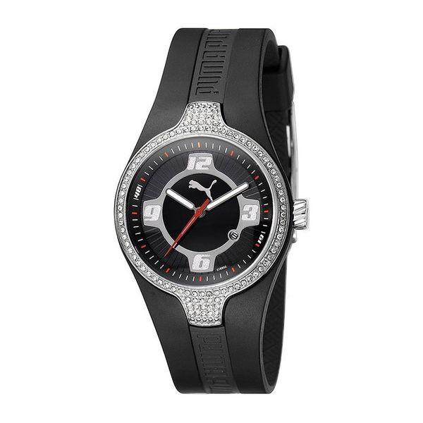 Dámské hodinky Puma černo-stříbrné široký pásek