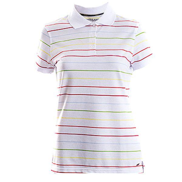 Bílé pruhované polo tričko