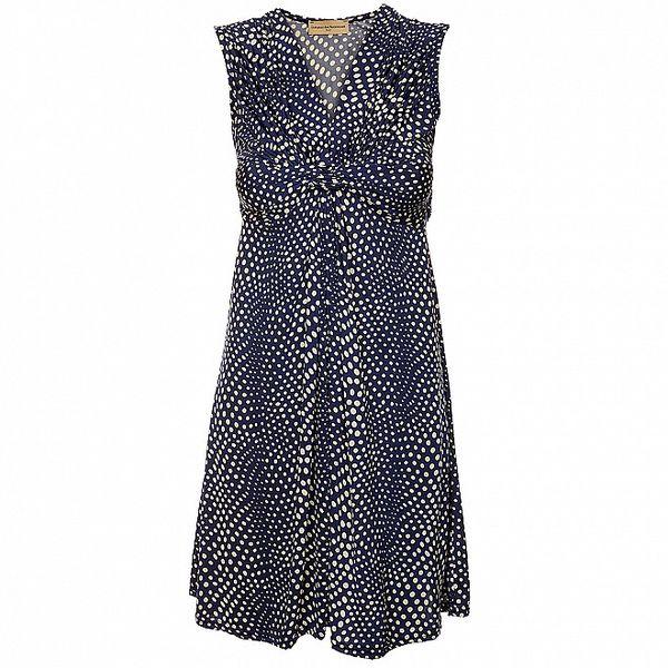 Dámske tmavo modré bodkované šaty Comptoir des Parisiennes