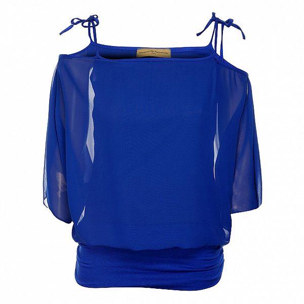 Dámský zářivě modrý top Comptoir des Parisiennes