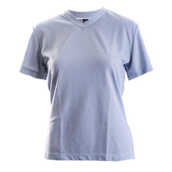 Šedé tričko s véčkovým výstřihem