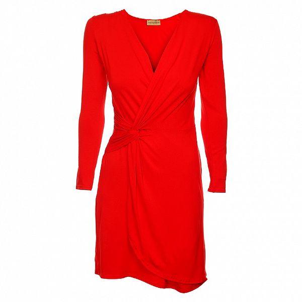 Dámske červené zavinovacie šaty Comptoir des Parisiennes