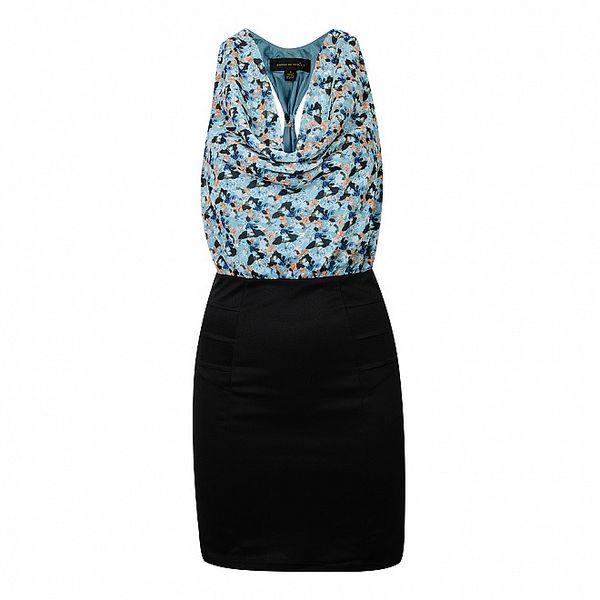 Dámské modro-černé šaty House of Dereon