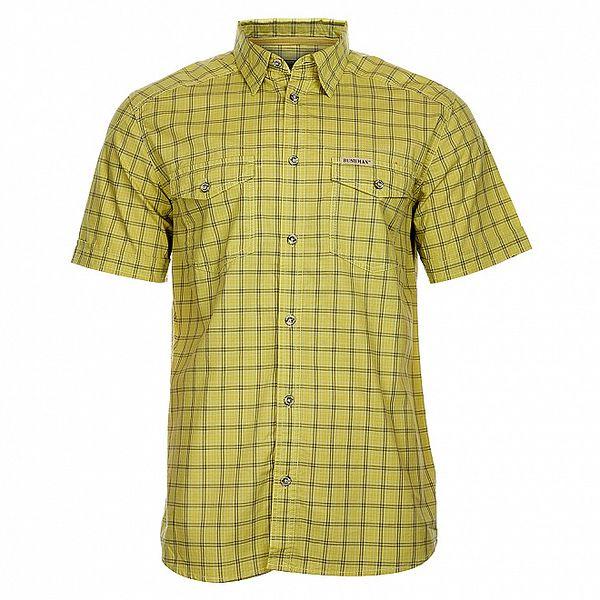 Pánská žluto-šedá kostkovaná košile Bushman