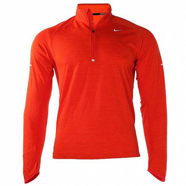 Pánské červené tričko Nike s dlouhým rukávem
