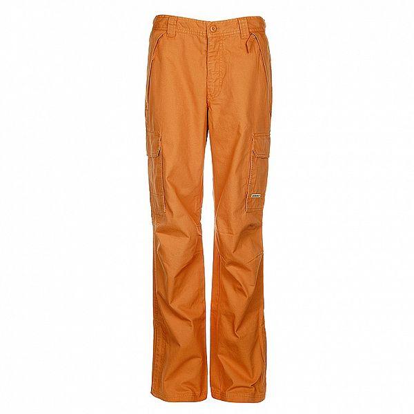 Pánské oranžové sportovní zateplené kalhoty Bushman