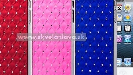 Jedinečný kryt s kryštálmi pre iPhone 5 v šiestich farbách za 3,99 € vrátane poštovného.