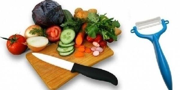 Luxusní sada KERAMICKÝ NŮŽ + ŠKRABKA vč. poštovného! Vařte zdravěji s dokonalými pomocníky do Vaší kuchyně!
