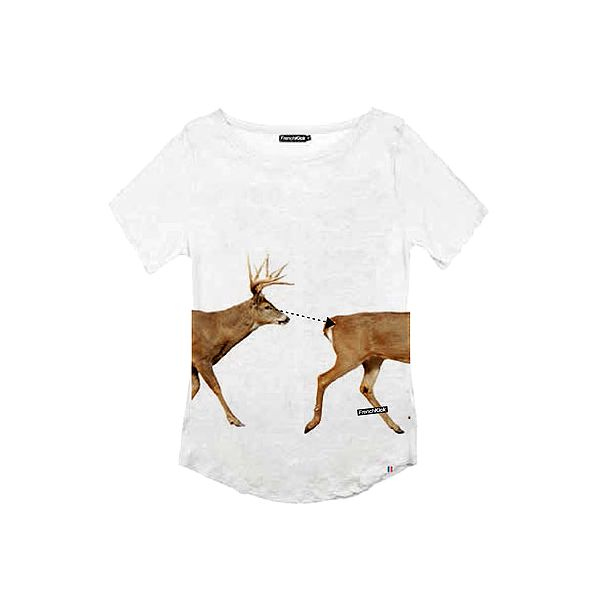 Bavlněné dámské tričko French Kick Deer
