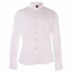 Pánská bílá bavlněná košile 7camicie s potiskem