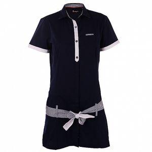 Dámske tmavo modré košeľové šaty 7camicie