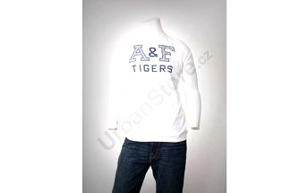 Pánské tričko Abercrombie & Fitch s krátkým rukávem A&F T-Shirt_White