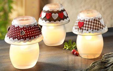 """3 vonné svíčky """"Tirol"""" ve skle s jemným vanilkovým aroma"""