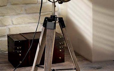 """Stojací lampa """"Nostalgie"""" - s reflektorem ve stylu starého hollywoodského filmu!"""