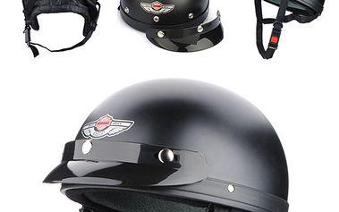 Helma na motorku černá XL a poštovné ZDARMA! - 466
